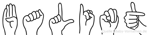 Balint im Fingeralphabet der Deutschen Gebärdensprache