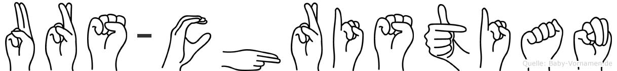 Urs-Christian im Fingeralphabet der Deutschen Gebärdensprache