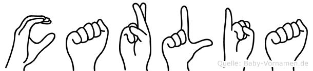 Carlia in Fingersprache für Gehörlose