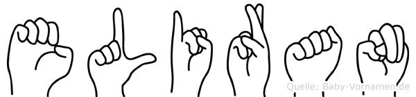 Eliran im Fingeralphabet der Deutschen Gebärdensprache