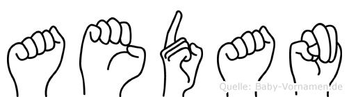 Aedan in Fingersprache für Gehörlose