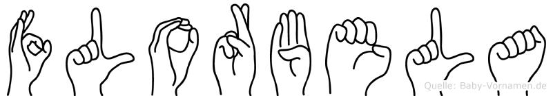 Florbela im Fingeralphabet der Deutschen Gebärdensprache