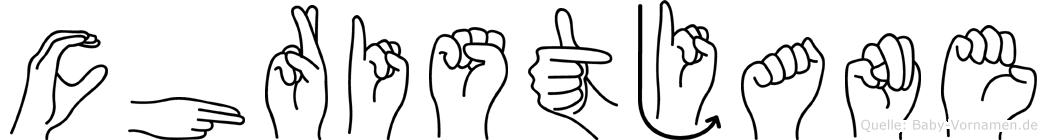 Christjane in Fingersprache für Gehörlose