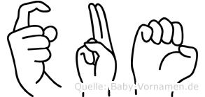 Xue im Fingeralphabet der Deutschen Gebärdensprache