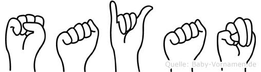 Sayan in Fingersprache für Gehörlose