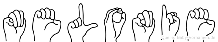 Melonie im Fingeralphabet der Deutschen Gebärdensprache