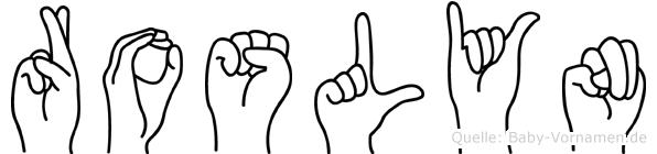 Roslyn in Fingersprache für Gehörlose