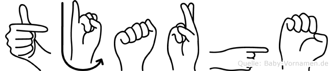 Tjarge in Fingersprache für Gehörlose