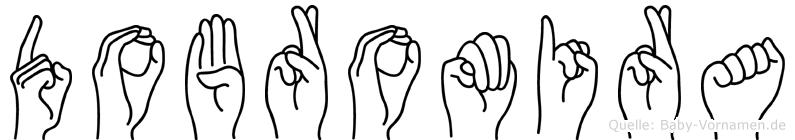Dobromira im Fingeralphabet der Deutschen Gebärdensprache