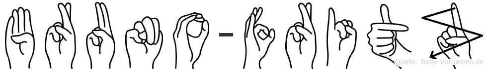 Bruno-Fritz im Fingeralphabet der Deutschen Gebärdensprache