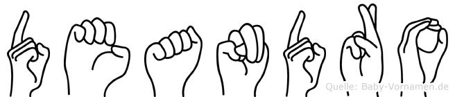 Deandro im Fingeralphabet der Deutschen Gebärdensprache
