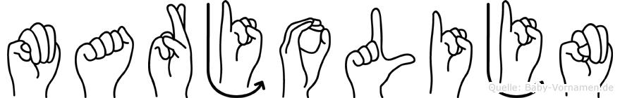 Marjolijn im Fingeralphabet der Deutschen Gebärdensprache