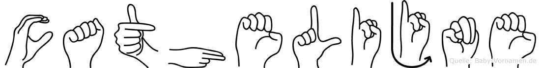 Cathelijne im Fingeralphabet der Deutschen Gebärdensprache