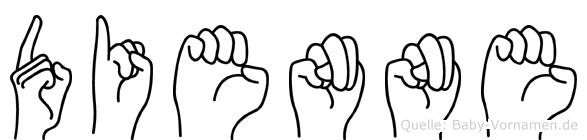 Dienne im Fingeralphabet der Deutschen Gebärdensprache