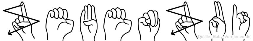 Zebenzui in Fingersprache für Gehörlose