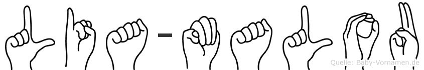 Lia-Malou im Fingeralphabet der Deutschen Gebärdensprache