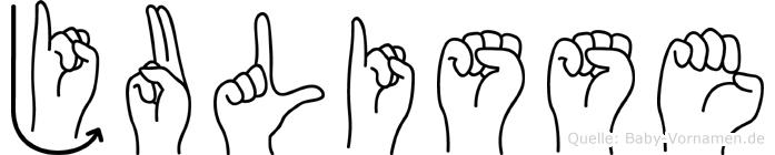 Julisse im Fingeralphabet der Deutschen Gebärdensprache