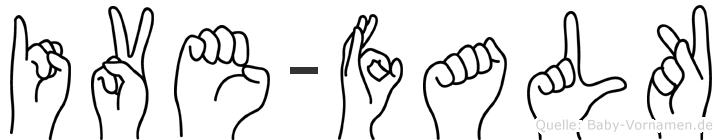 Ive-Falk im Fingeralphabet der Deutschen Gebärdensprache