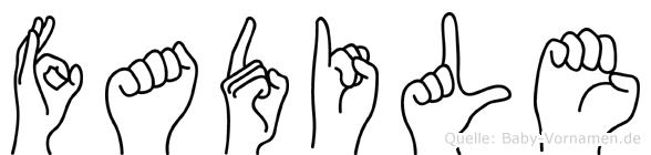 Fadile in Fingersprache für Gehörlose