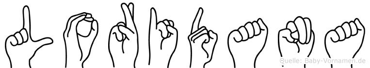 Loridana im Fingeralphabet der Deutschen Gebärdensprache