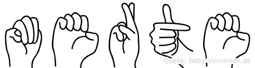 Merte im Fingeralphabet der Deutschen Gebärdensprache