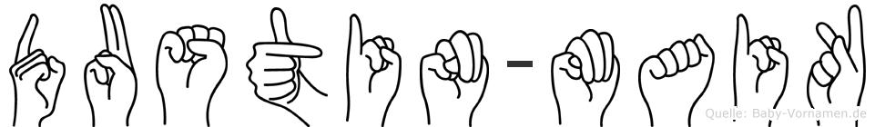 Dustin-Maik im Fingeralphabet der Deutschen Gebärdensprache