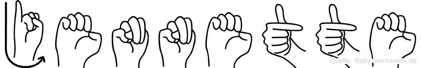 Jennette in Fingersprache für Gehörlose
