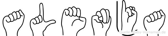 Alenja in Fingersprache für Gehörlose