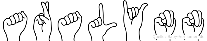Aralynn in Fingersprache für Gehörlose
