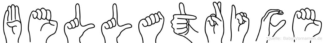 Bellatrice in Fingersprache für Gehörlose