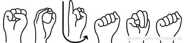 Sojana im Fingeralphabet der Deutschen Gebärdensprache