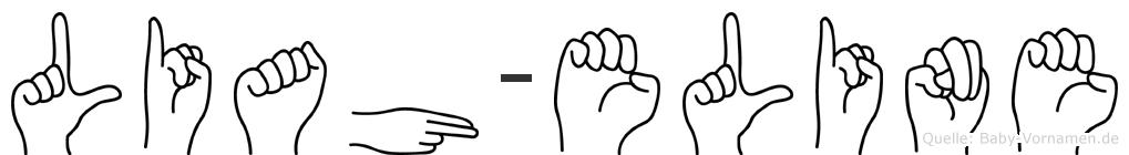 Liah-Eline im Fingeralphabet der Deutschen Gebärdensprache