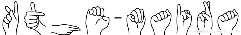 Käthe-Maira im Fingeralphabet der Deutschen Gebärdensprache
