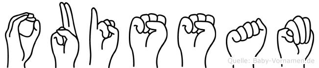 Ouissam im Fingeralphabet der Deutschen Gebärdensprache