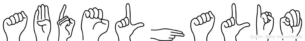 Abdelhalim in Fingersprache für Gehörlose