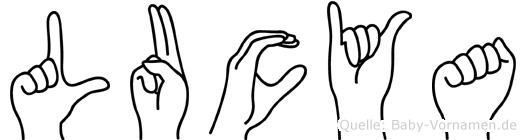 Lucya in Fingersprache für Gehörlose