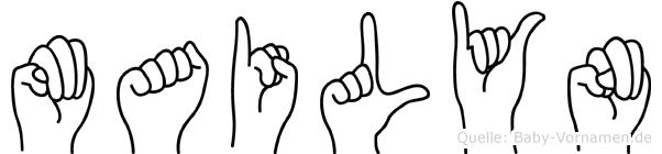 Mailyn im Fingeralphabet der Deutschen Gebärdensprache