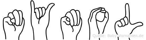 Nymol in Fingersprache für Gehörlose