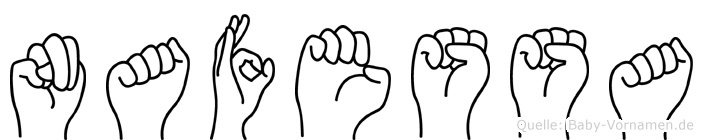 Nafessa in Fingersprache für Gehörlose