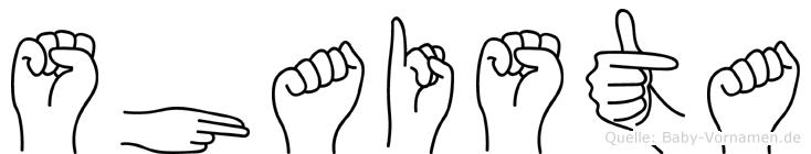 Shaista in Fingersprache für Gehörlose