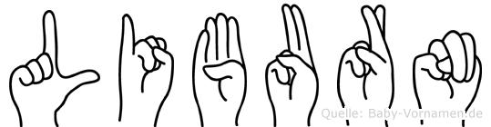 Liburn in Fingersprache für Gehörlose