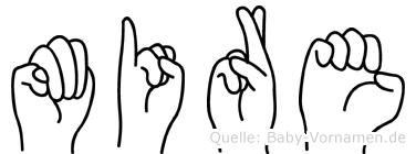 Mire in Fingersprache für Gehörlose