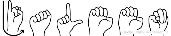 Jaleen im Fingeralphabet der Deutschen Gebärdensprache