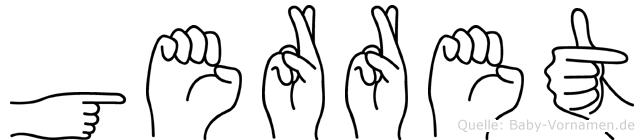 Gerret im Fingeralphabet der Deutschen Gebärdensprache