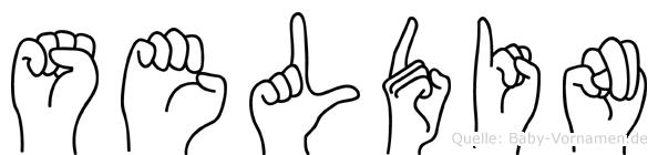 Seldin im Fingeralphabet der Deutschen Gebärdensprache