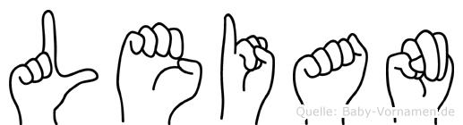 Leian in Fingersprache für Gehörlose