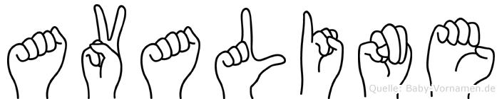 Avaline in Fingersprache für Gehörlose