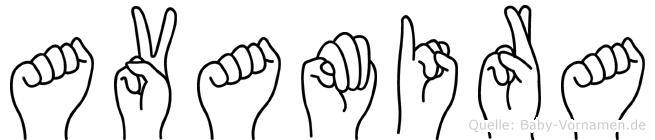 Avamira in Fingersprache für Gehörlose