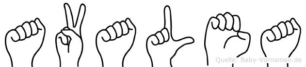 Avalea in Fingersprache für Gehörlose