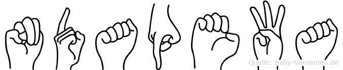 Ndapewa in Fingersprache für Gehörlose